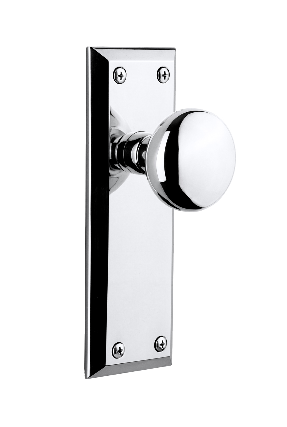 Fifth Avenue Plate with Fifth Avenue Knob(Bright Chrome)