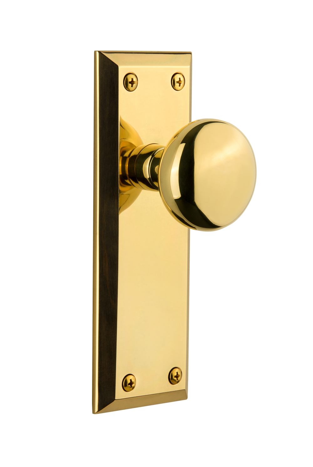 <b>Fifth Avenue Plate with Fifth Avenue Knob</b><br>(Polished Brass) 1
