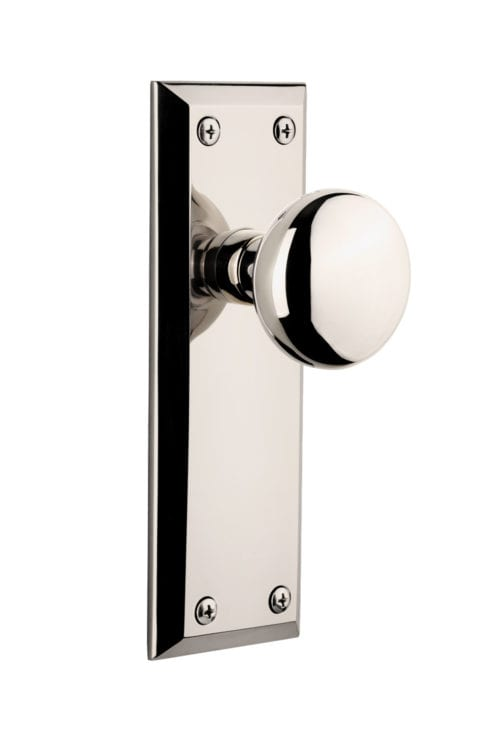 Fifth Avenue Plate with Fifth Avenue Knob(Polished Nickel)